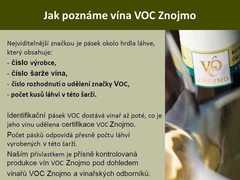 Jak poznáme vína VOC Znojmo