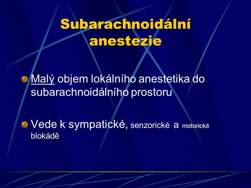 Subarachnoidální anestezie