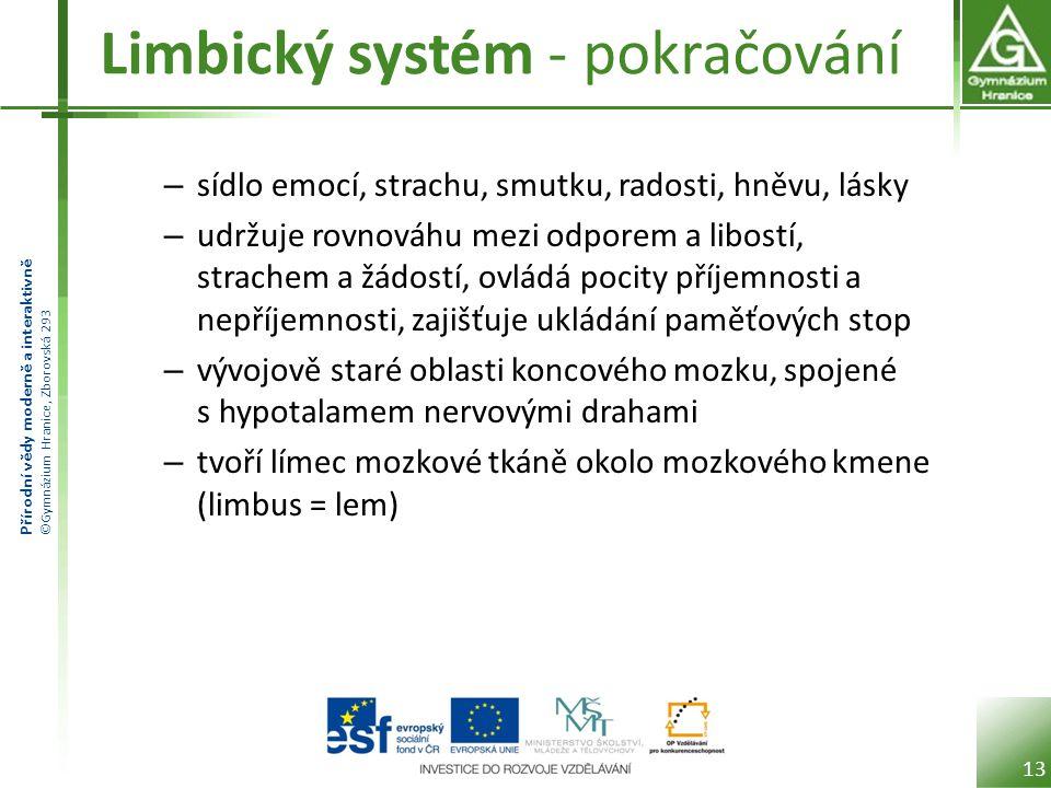 Limbický systém - pokračování