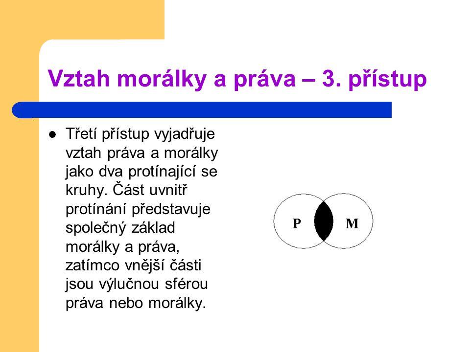 Vztah morálky a práva – 3. přístup