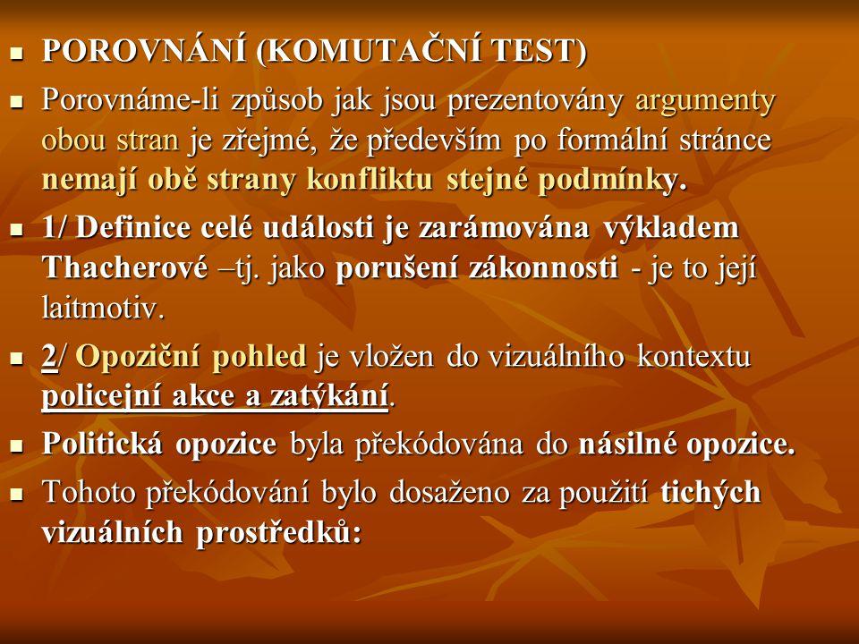 POROVNÁNÍ (KOMUTAČNÍ TEST)