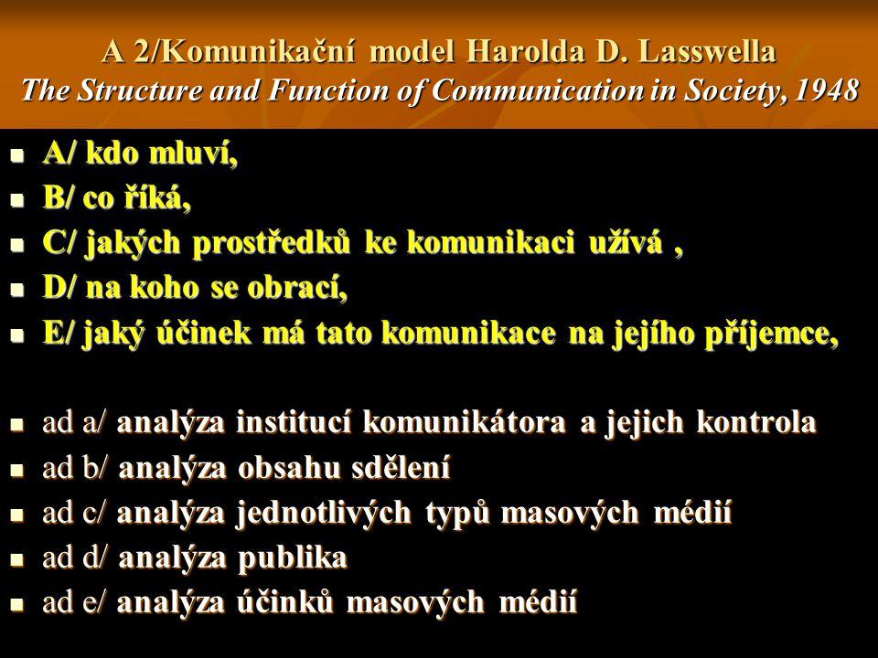 A 2/Komunikační model Harolda D