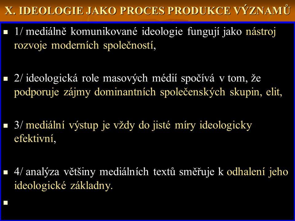 X. IDEOLOGIE JAKO PROCES PRODUKCE VÝZNAMŮ