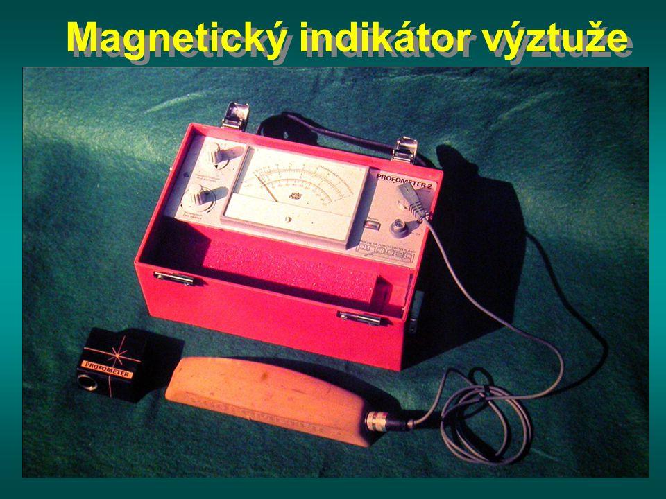 Magnetický indikátor výztuže