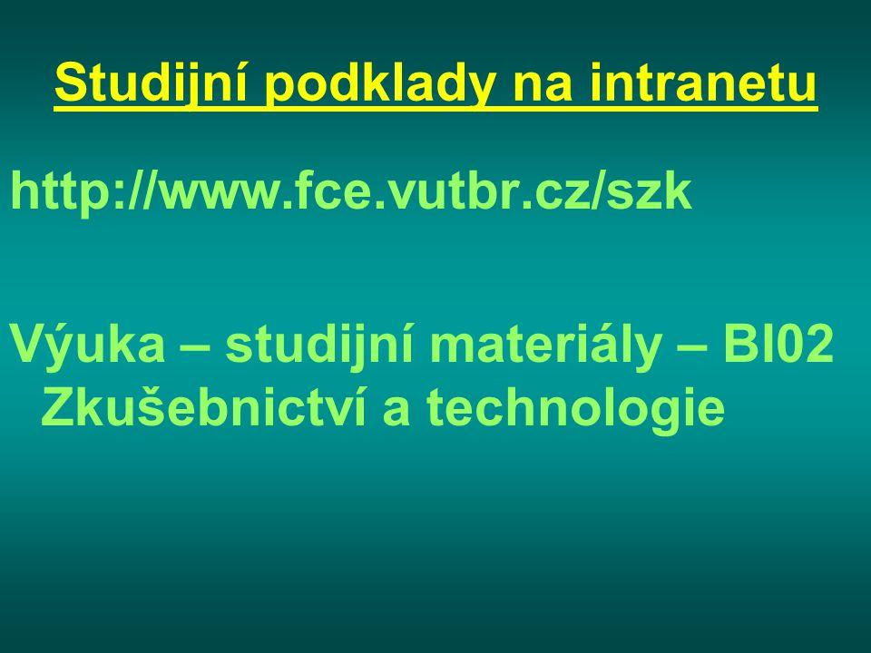 Studijní podklady na intranetu