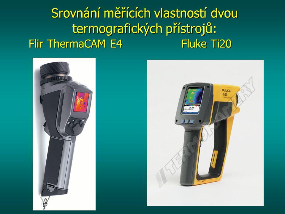 Srovnání měřících vlastností dvou termografických přístrojů: