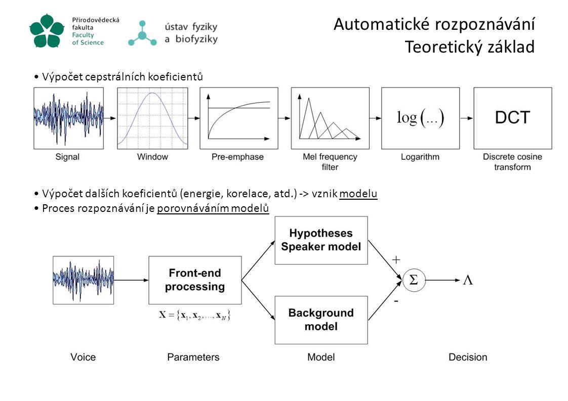 Automatické rozpoznávání Teoretický základ