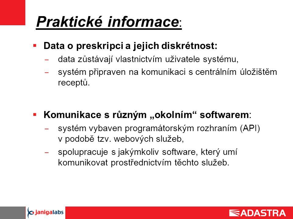 Praktické informace: Data o preskripci a jejich diskrétnost: