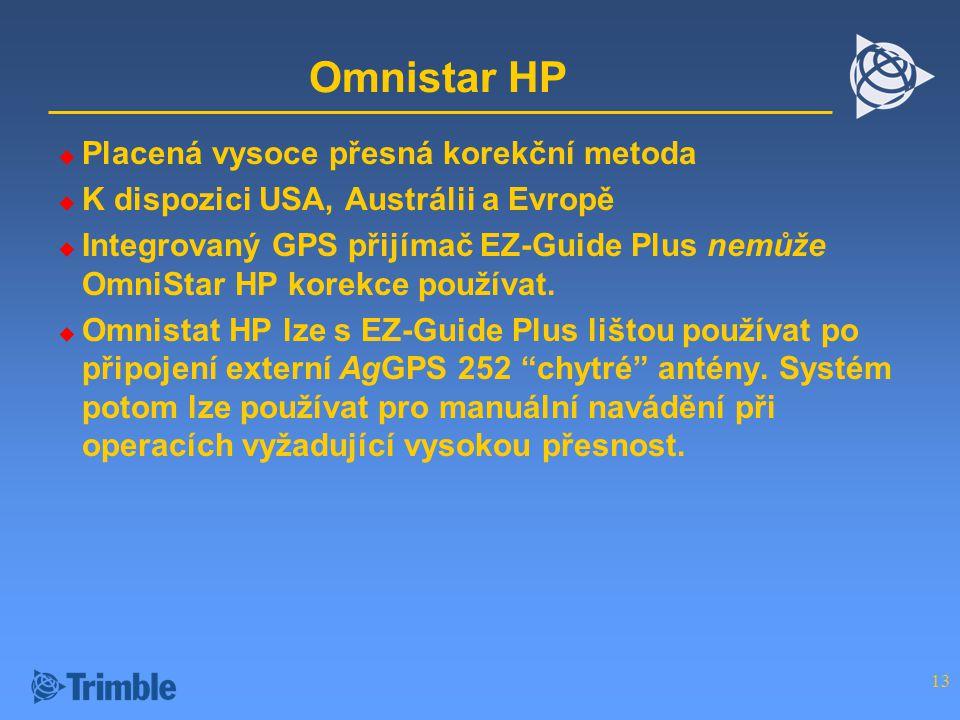 Omnistar HP Placená vysoce přesná korekční metoda