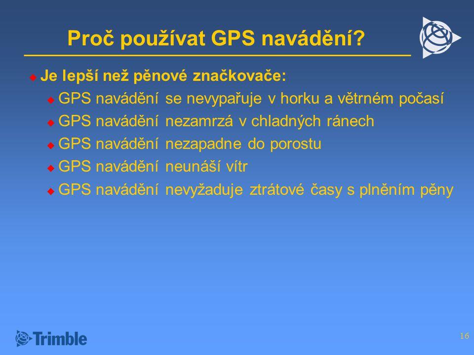 Proč používat GPS navádění