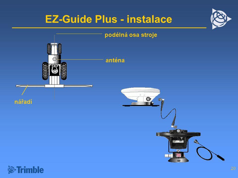 EZ-Guide Plus - instalace
