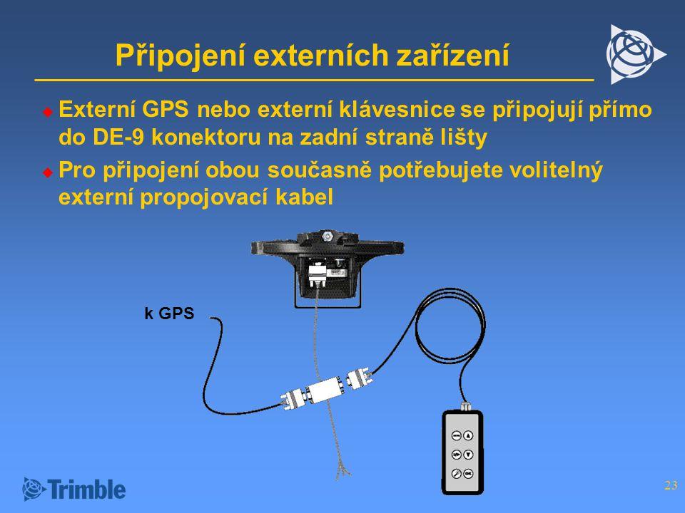 Připojení externích zařízení