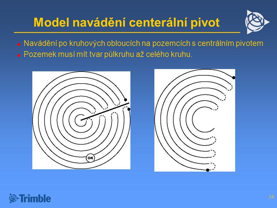 Model navádění centerální pivot