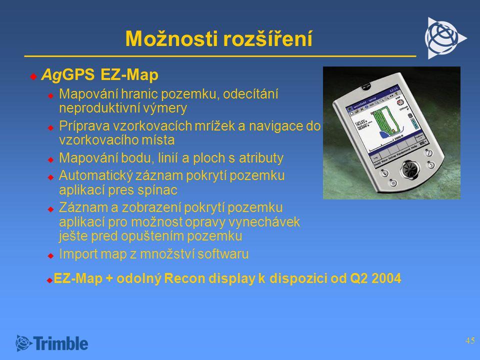 Možnosti rozšíření AgGPS EZ-Map
