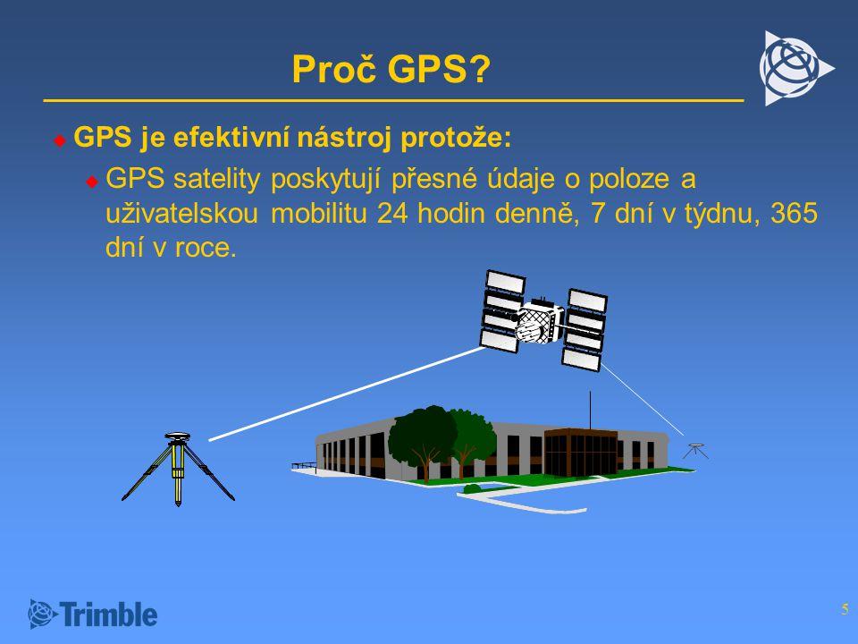 Proč GPS GPS je efektivní nástroj protože: