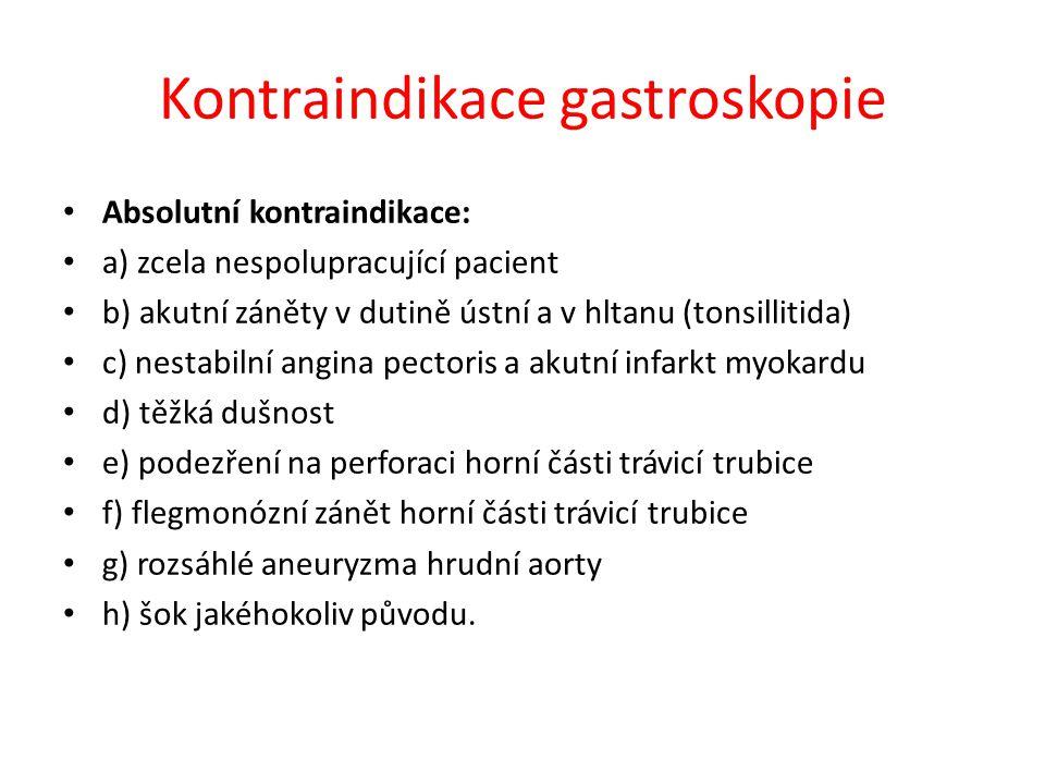 Kontraindikace gastroskopie