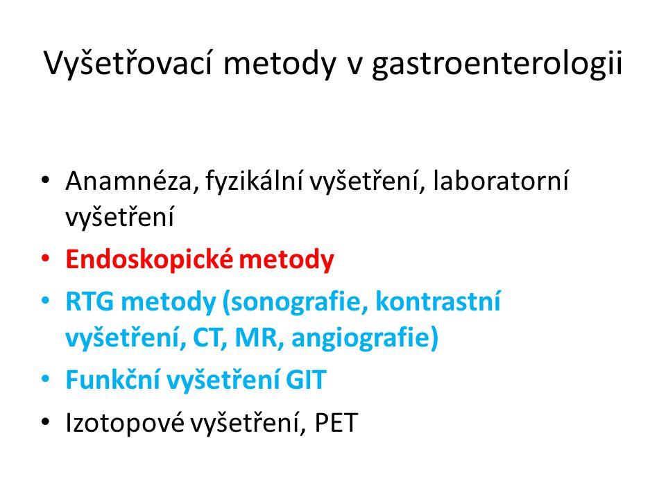 Vyšetřovací metody v gastroenterologii
