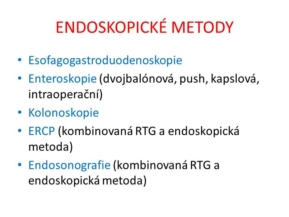 ENDOSKOPICKÉ METODY Esofagogastroduodenoskopie