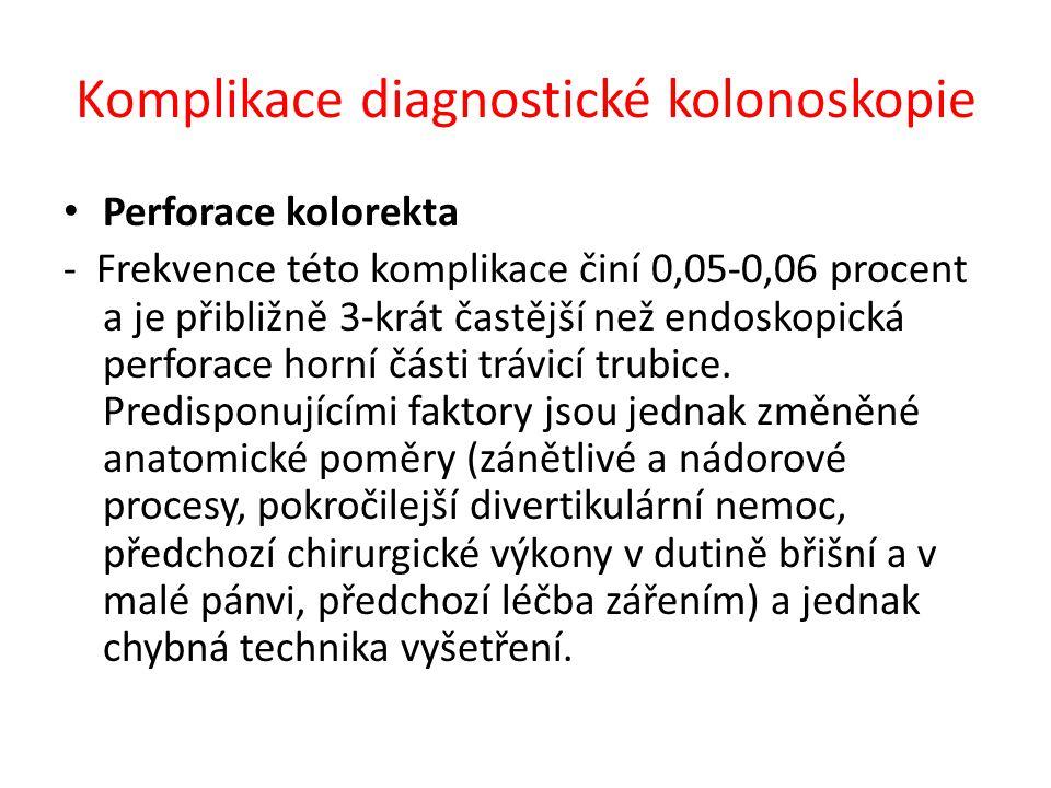 Komplikace diagnostické kolonoskopie