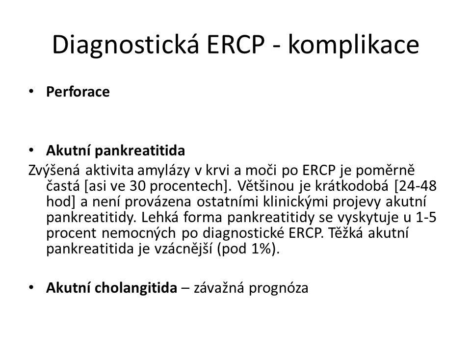 Diagnostická ERCP - komplikace