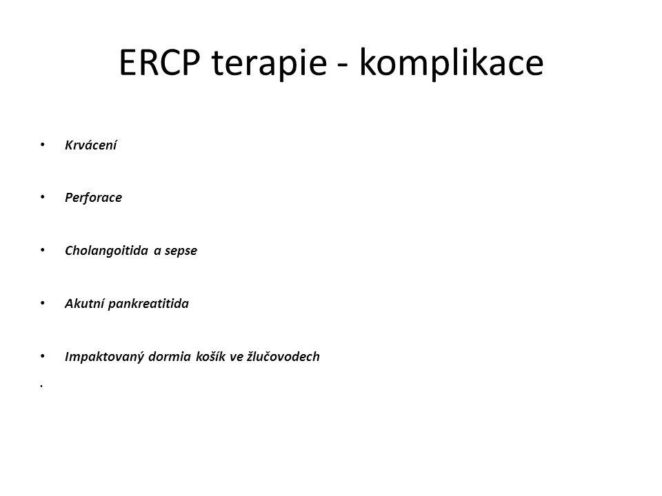 ERCP terapie - komplikace