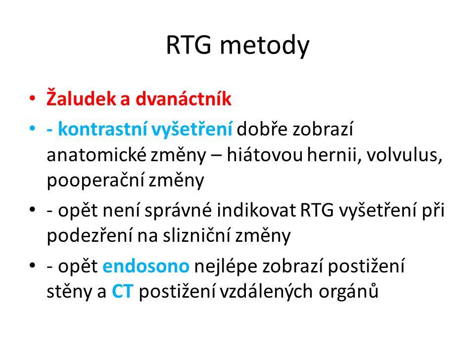RTG metody Žaludek a dvanáctník