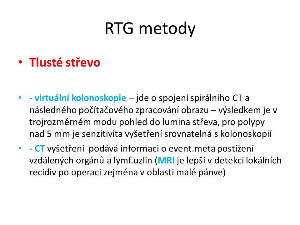 RTG metody Tlusté střevo