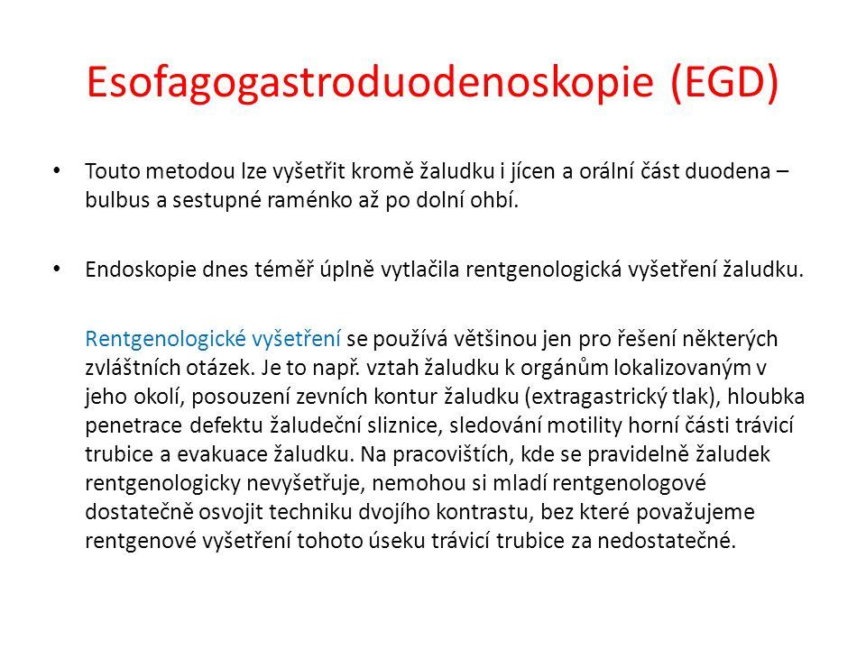 Esofagogastroduodenoskopie (EGD)