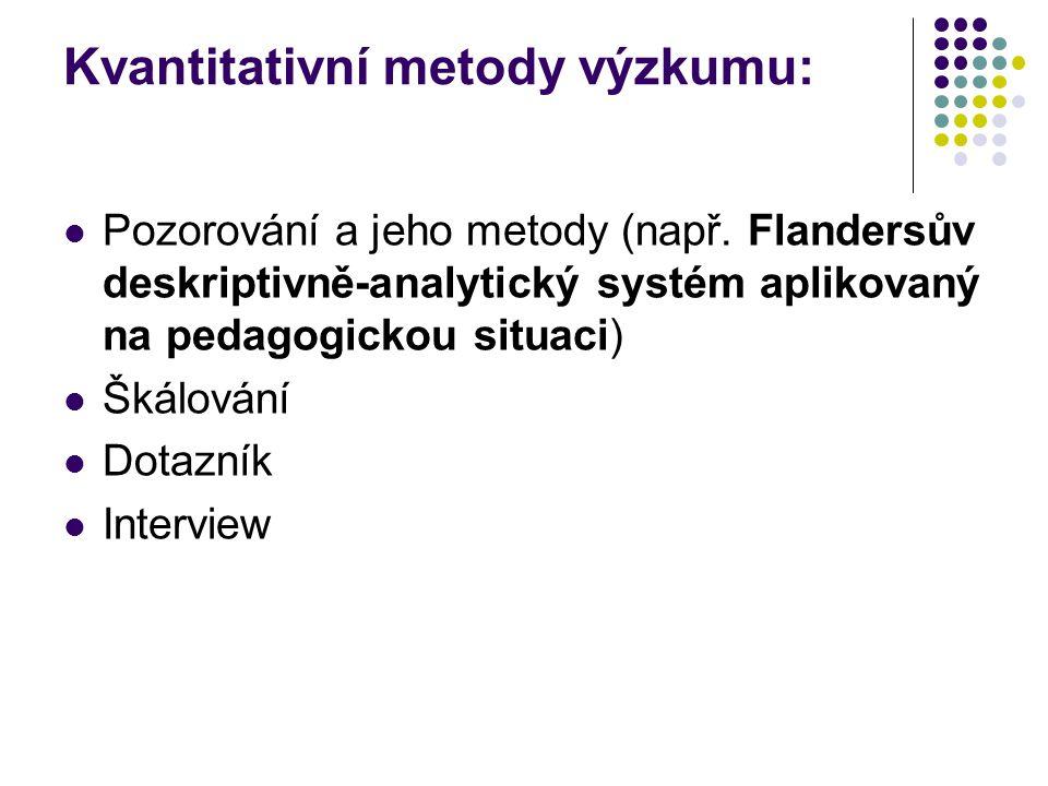 Kvantitativní metody výzkumu: