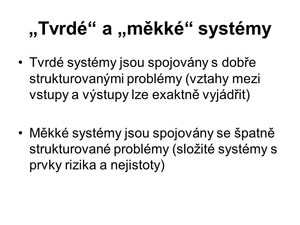 """""""Tvrdé a """"měkké systémy"""