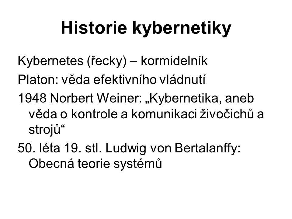Historie kybernetiky Kybernetes (řecky) – kormidelník