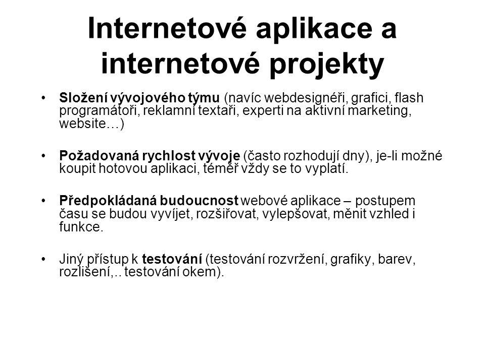 Internetové aplikace a internetové projekty