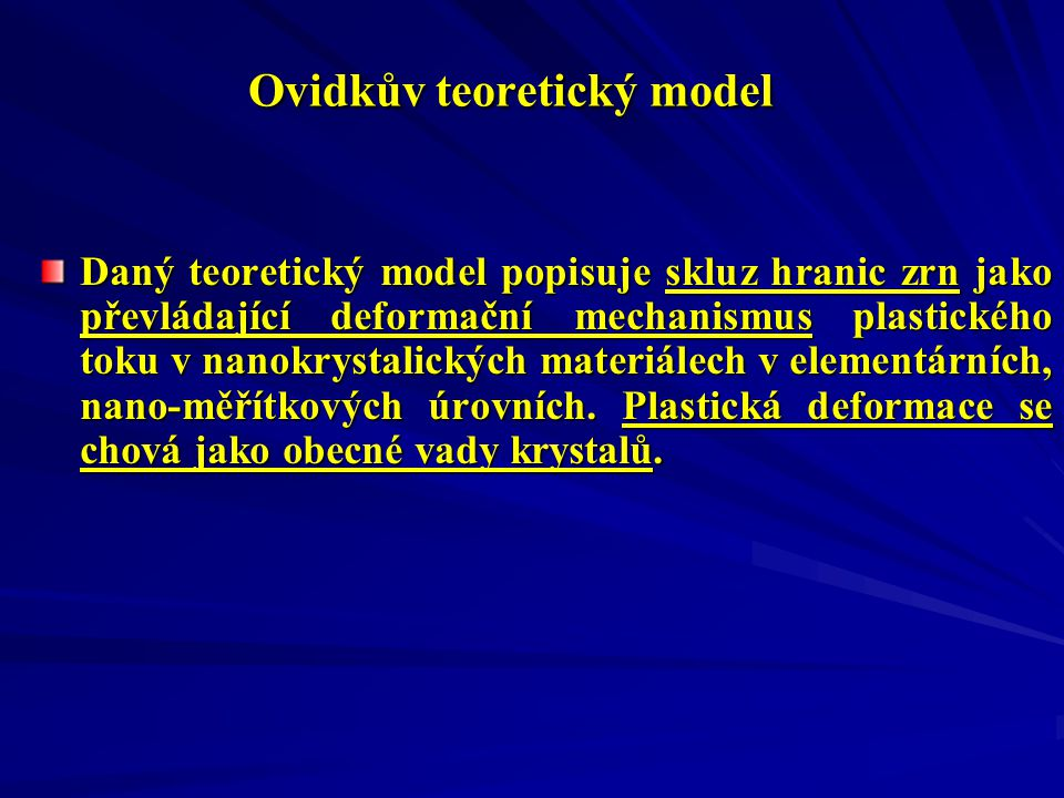 Ovidkův teoretický model