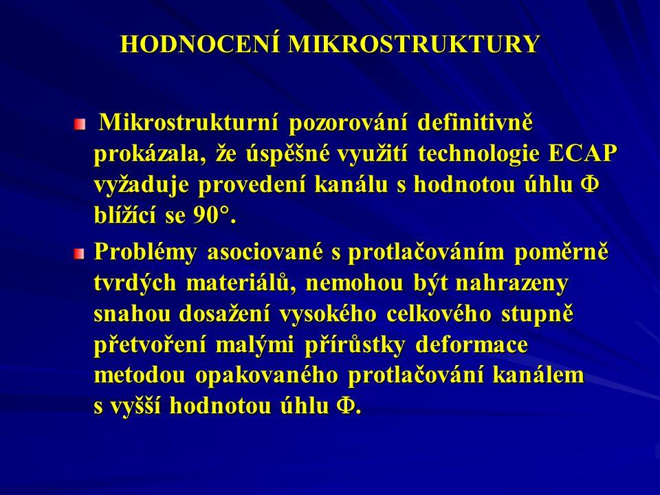 HODNOCENÍ MIKROSTRUKTURY