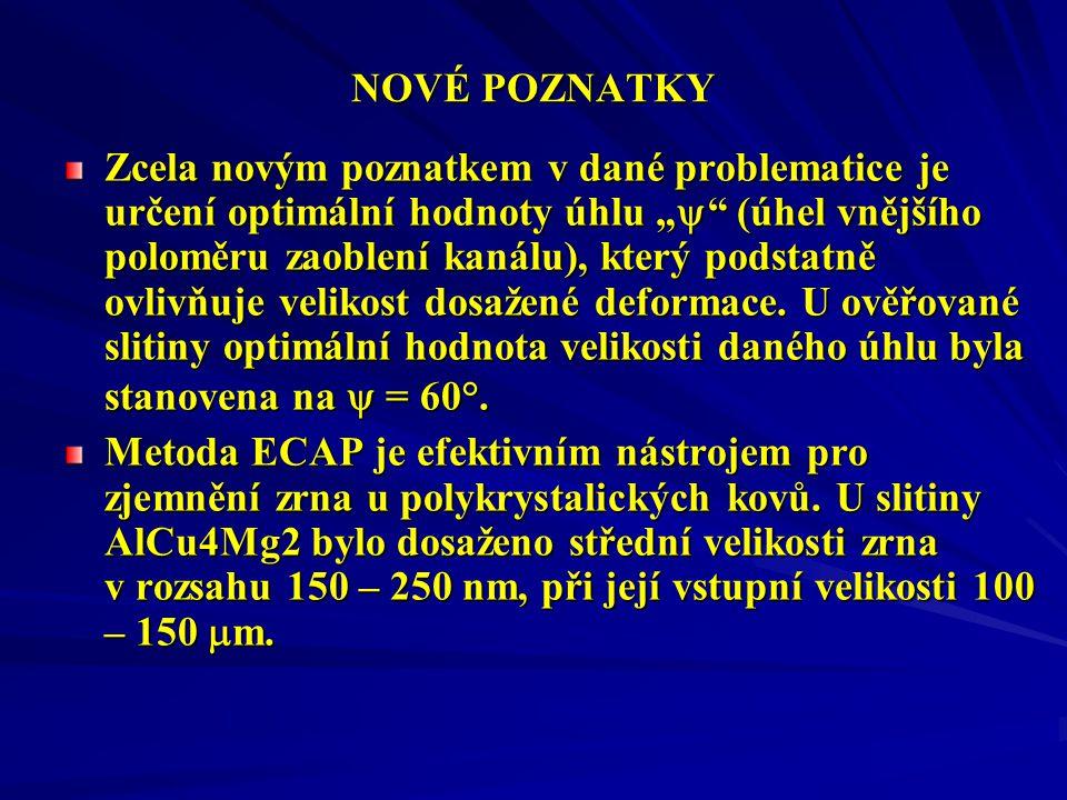 NOVÉ POZNATKY