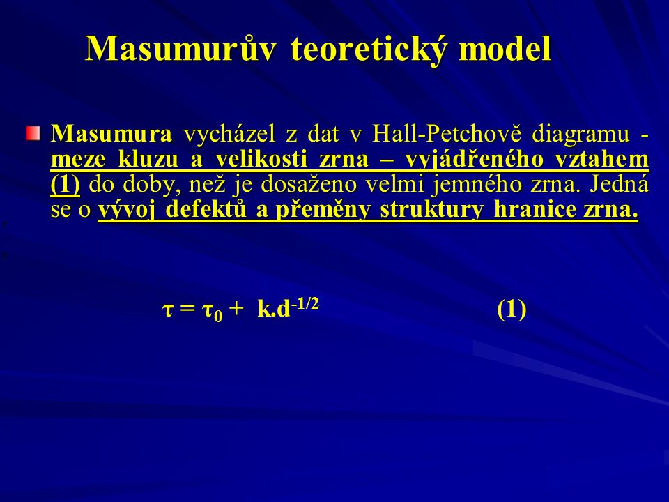 Masumurův teoretický model