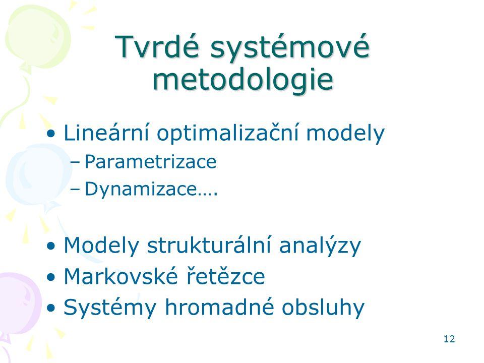 Tvrdé systémové metodologie