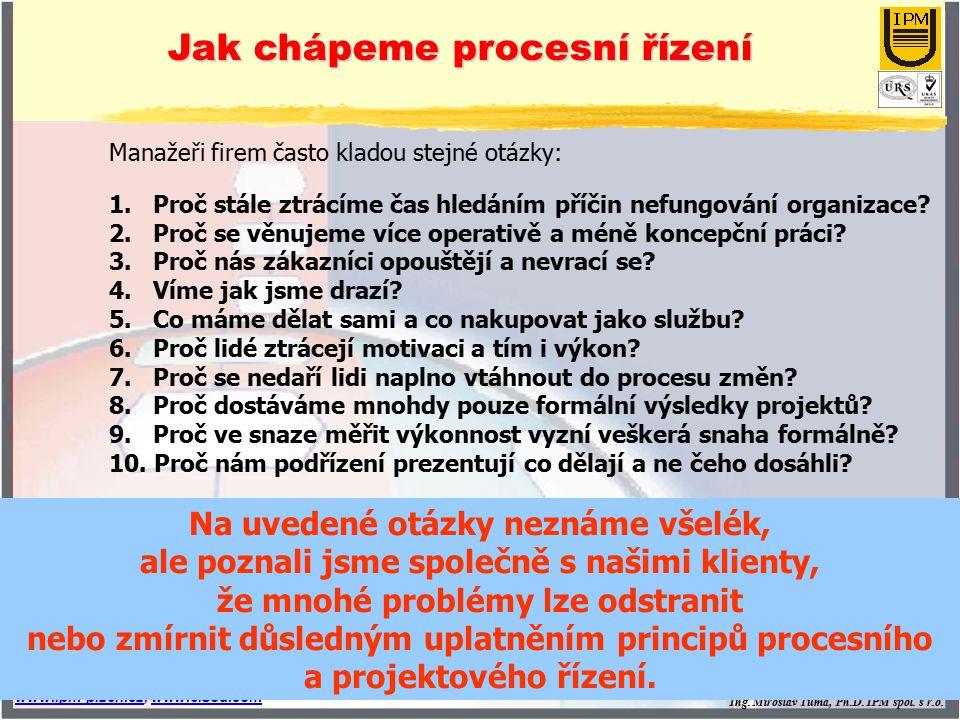 Jak chápeme procesní řízení