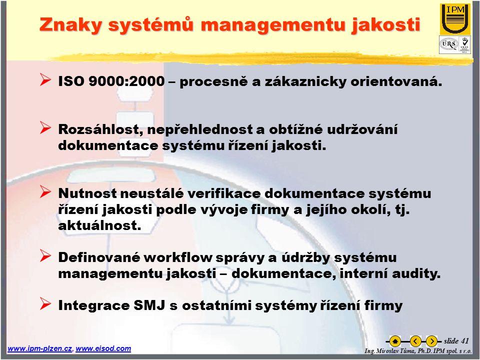 Znaky systémů managementu jakosti