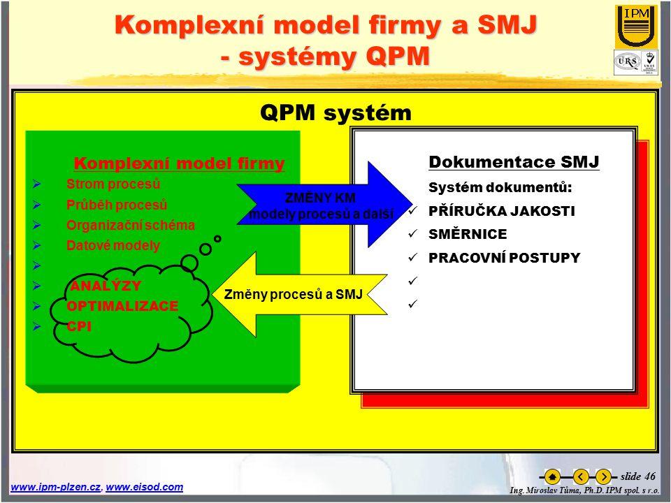 Komplexní model firmy a SMJ