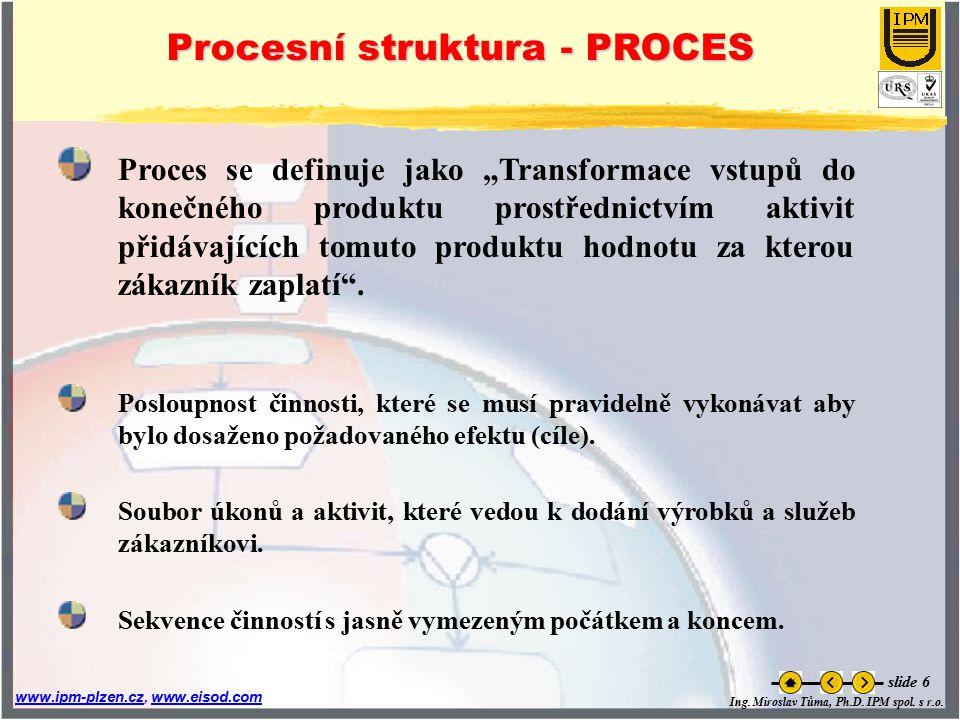 Procesní struktura - PROCES
