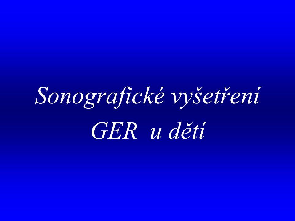Sonografické vyšetření GER u dětí