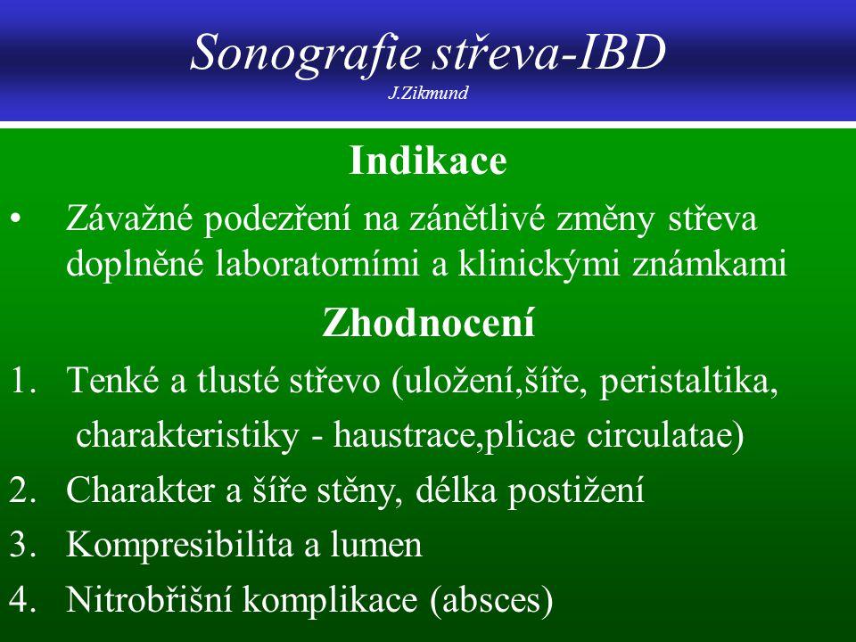 Sonografie střeva-IBD J.Zikmund