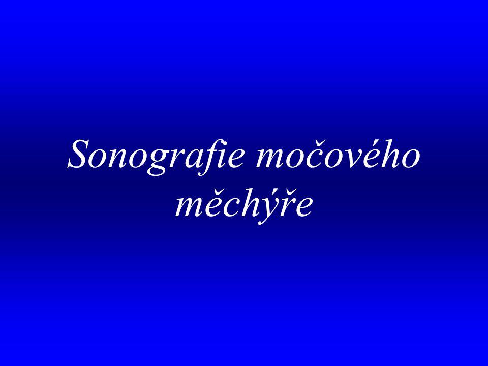 Sonografie močového měchýře