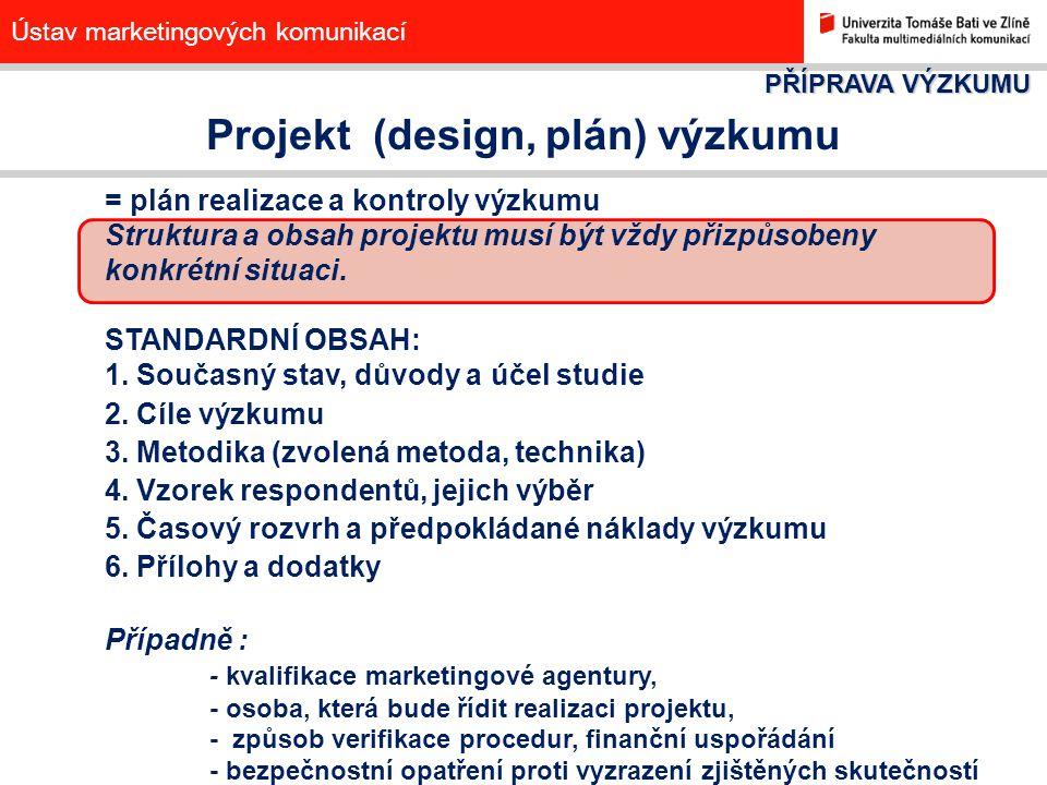 Projekt (design, plán) výzkumu