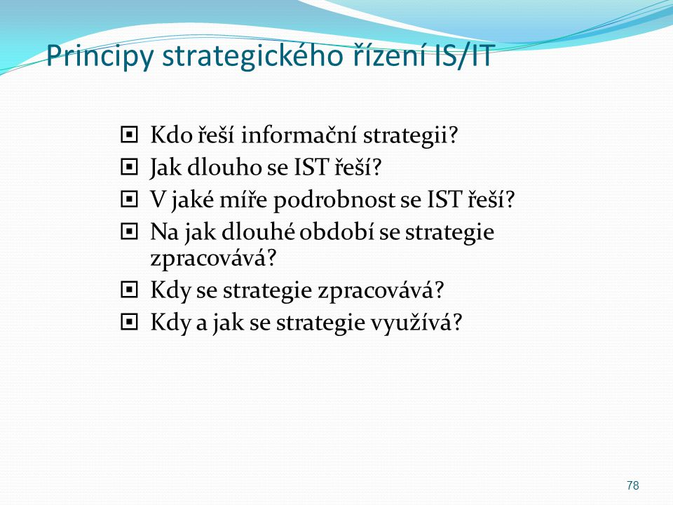 Principy strategického řízení IS/IT