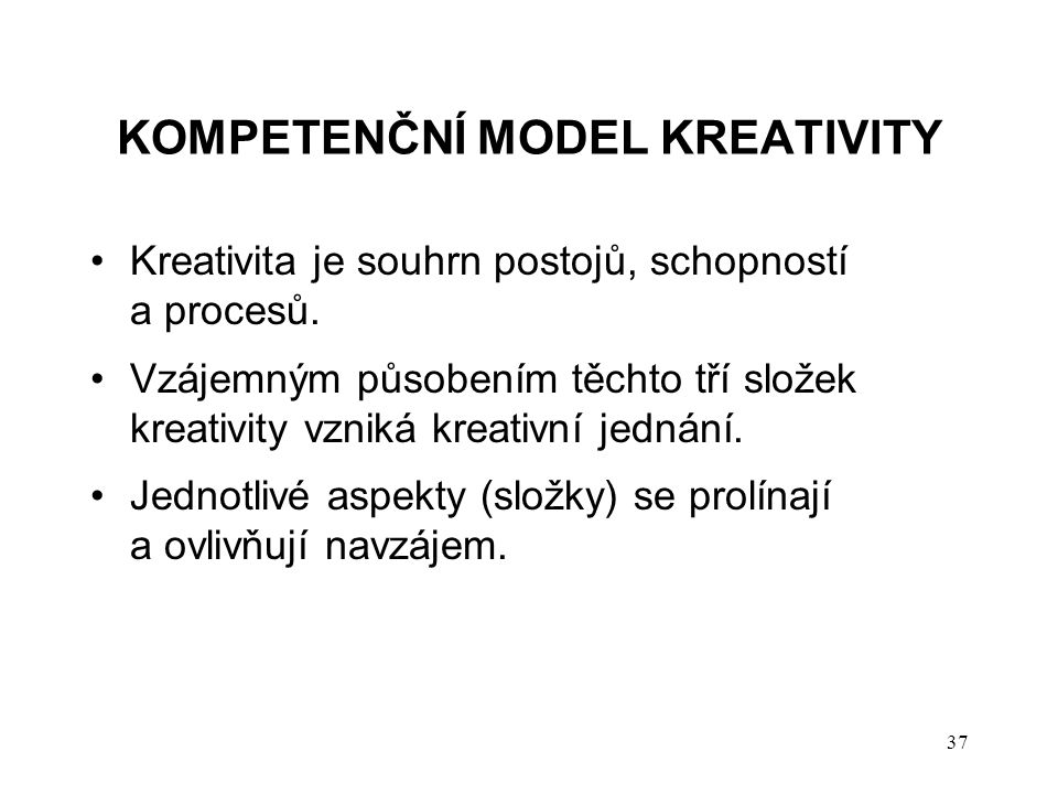 Kompetenční model kreativity