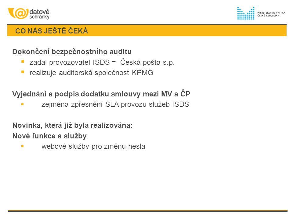 Dokončení bezpečnostního auditu