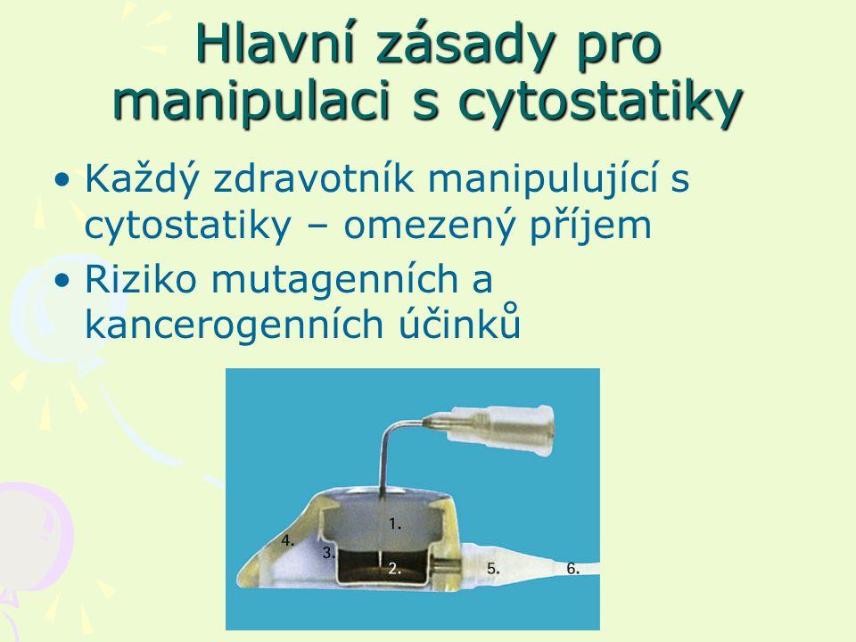 Hlavní zásady pro manipulaci s cytostatiky