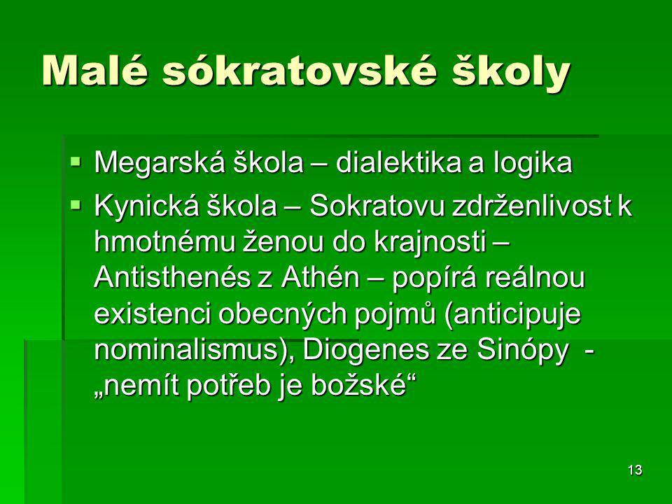 Malé sókratovské školy